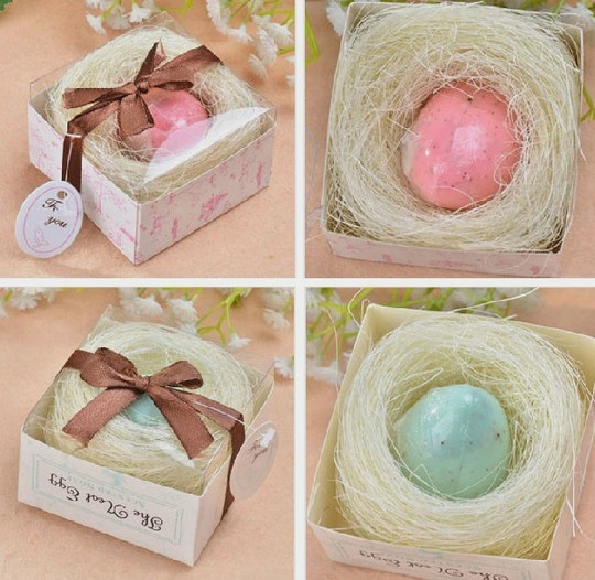 10 Scented Home Gift Ideas All Priced 10 And Under: Two Color For Choose Scented Bride Egg Soap Wedding Favor
