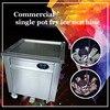 220V 110V fry ice cream machine Stainless steel Commercial single pot fry ice machine CBJF-1DA-600 frying ice pan