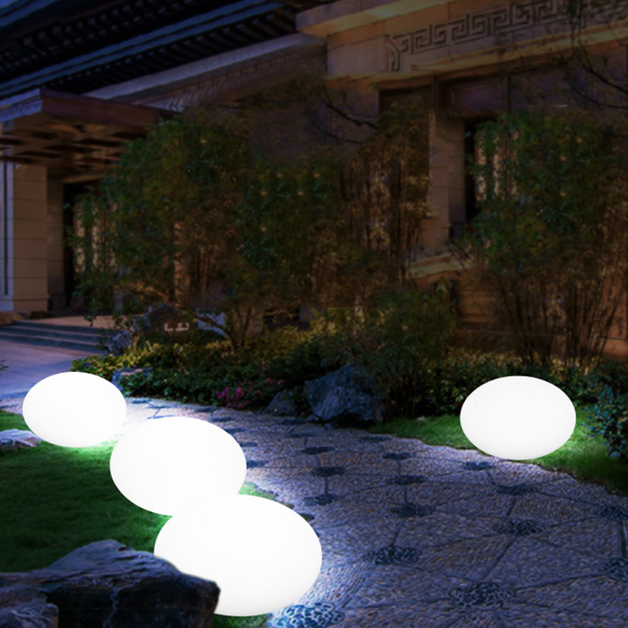 Thrisdar ip68 led swimming pool floating pool ball light rgb outdoor flat ball landscape patio lawn pathway deck light in lawn lamps from lights lighting
