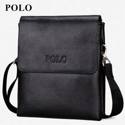 2018 New special offer leather men messenger bag fashion brand men business crossbody bag brand POLO Shoulder Bag briefcase