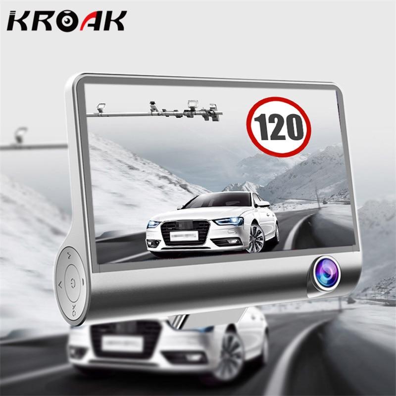 4.0 Car DVR Camera Dual Lens With Rear View Registrar Three Camera Night Vision Car DVRs Video Dashcam Camcorder