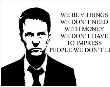 FIGHT CLUB INSPIRATIONAL MOTIVATIONAL QUOTE Art Wall Decor Silk Print Poster in Painting Calligraphy from Home Garden