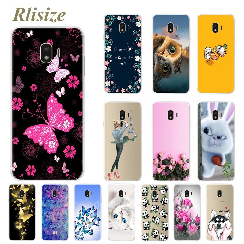 sports shoes 92dee 435ff Phone Case For Samsung Galaxy J4 2018 Cases Cute Cartoon Soft Silicon Back  Cover For Samsung Galaxy J4 2018 J400 J400F SM-J400F