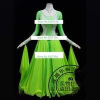 Ballroom Dance Competition Dresses Waltz Dress Green rhinestone ballroom dance competition dresses waltz dress flamenco