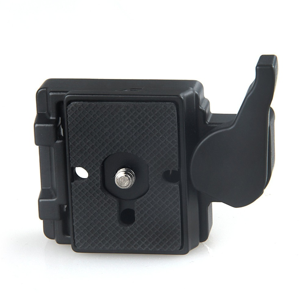 High quality Camera 323Black Quick Release Clamp Adapter + Quick Release Plate Compatible for Manfrotto 200PL-14 Compat Plate