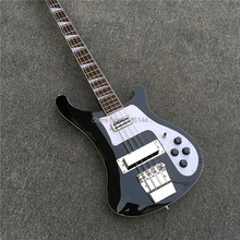 High quality black  4 string RICK bass electric bass, light black, all colors can be , factory wholesale and retail