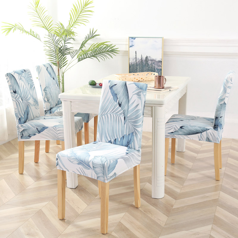 1 to 6 Pcs Dining Chair Cover with Elastic made of Polyester and Spandex Material 5