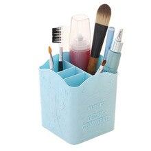 Cosmetics Organizer Plastic Beautiful Makeup Storage Box Case Pen Pencil Holder Desk Stationery Organizer Cosmetics Storage K531