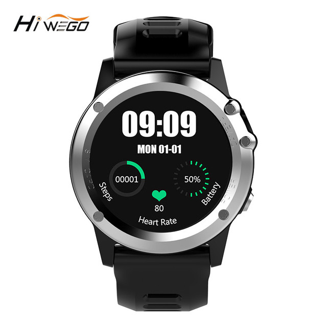 H1 GPS Smart Watch MTK6572 IP68 Waterproof 1.39inch 400*400 Wifi 3G Heart Rate Monitor 4GB+512MB For Android IOS Camera 500W