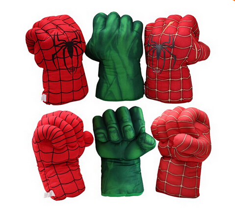 2pcs/lot Hot Selling Item Plush Toy The Avengers Spiderman Boxing Glove Popular Toys For Kids Low Price High Quality