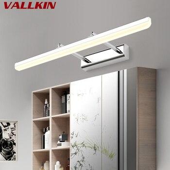 Светодиодные зеркальные настенные светильники для помещений из нержавеющей стали AC85 TO 265 V, современные настенные светильники для ванной ко...