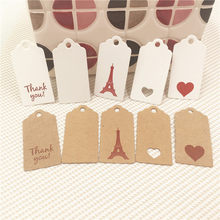 100Pcs 4x2cm Cute Scallop Head Hollow Heart Hanging Card Luggage Tag Clothing Price Tag Wedding Decoration Accepts Custom Logo(China)