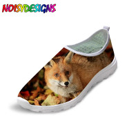 Noisydesigns Cool Animal 3D Fox Printed girls Shoes Women Casual Mesh Summer Shoes Women's Loafers Beach Water Shoes for Girls
