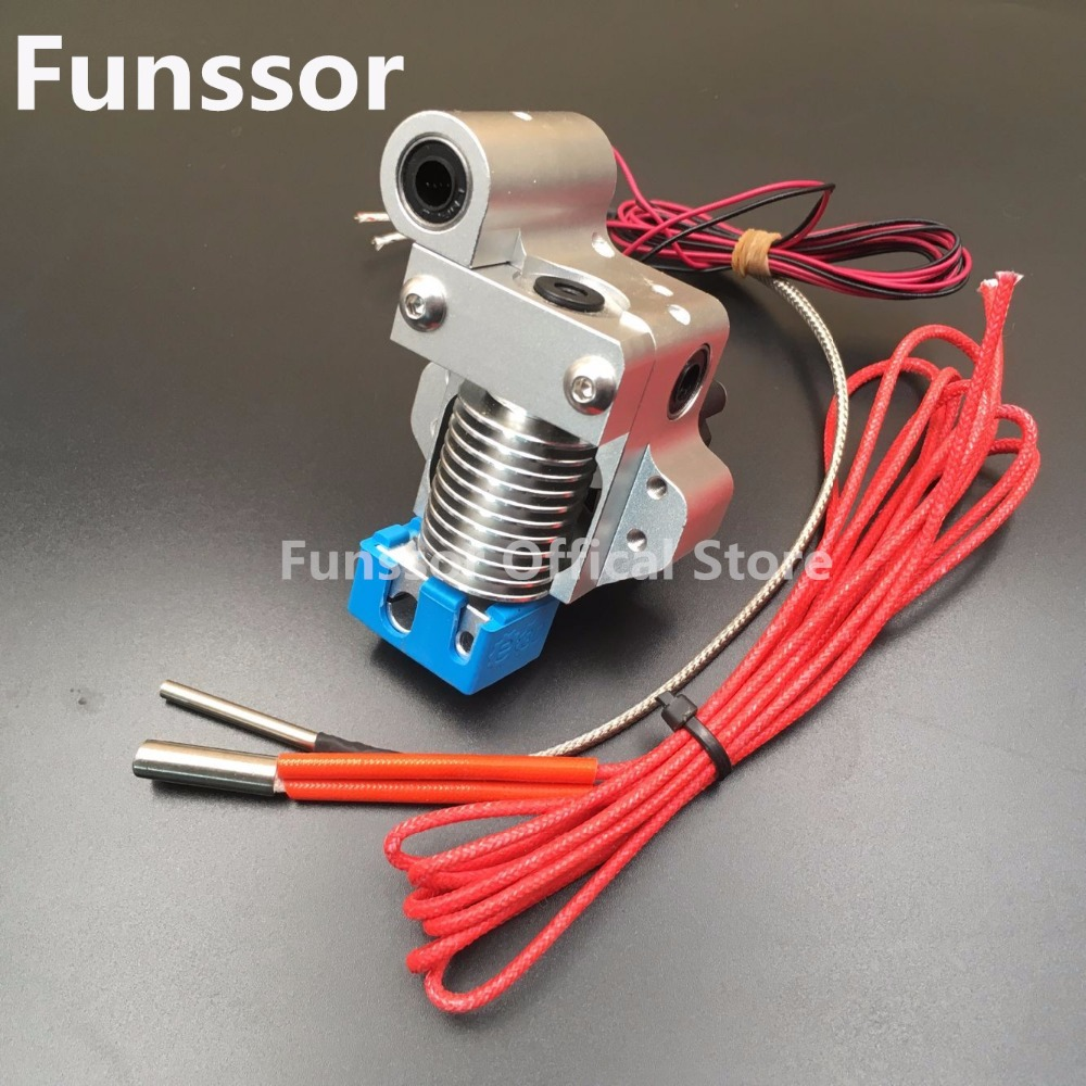 Funssor Ultimaker Original V6 hot end metal mount full assembly kit K type thermocouple Version With Silicone sock цена