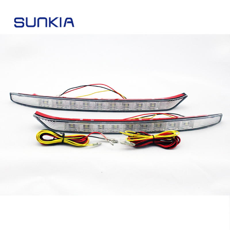 Free Shipping 2 Pcs/set LED Daytime Running Light For KIA K3  DRL With Turning Signal Lights free shipping new arrival 35pcs pack 2m pcs led aluminum profile for led strips with milky or transparent cover and accessories