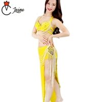 for oriental dance Dancewear Flower Outfit Egyptian Belly Dance Costume Set B/C Cup Bra and Skirt Fringe
