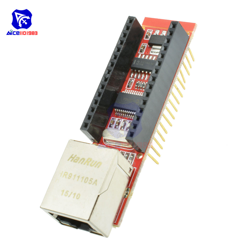 Nano ENC28J60 Ethernet Shield V1 0 Board for Arduino Microchip HR911105A  RJ45 Nano V3 Ethernet Webserver Board Module