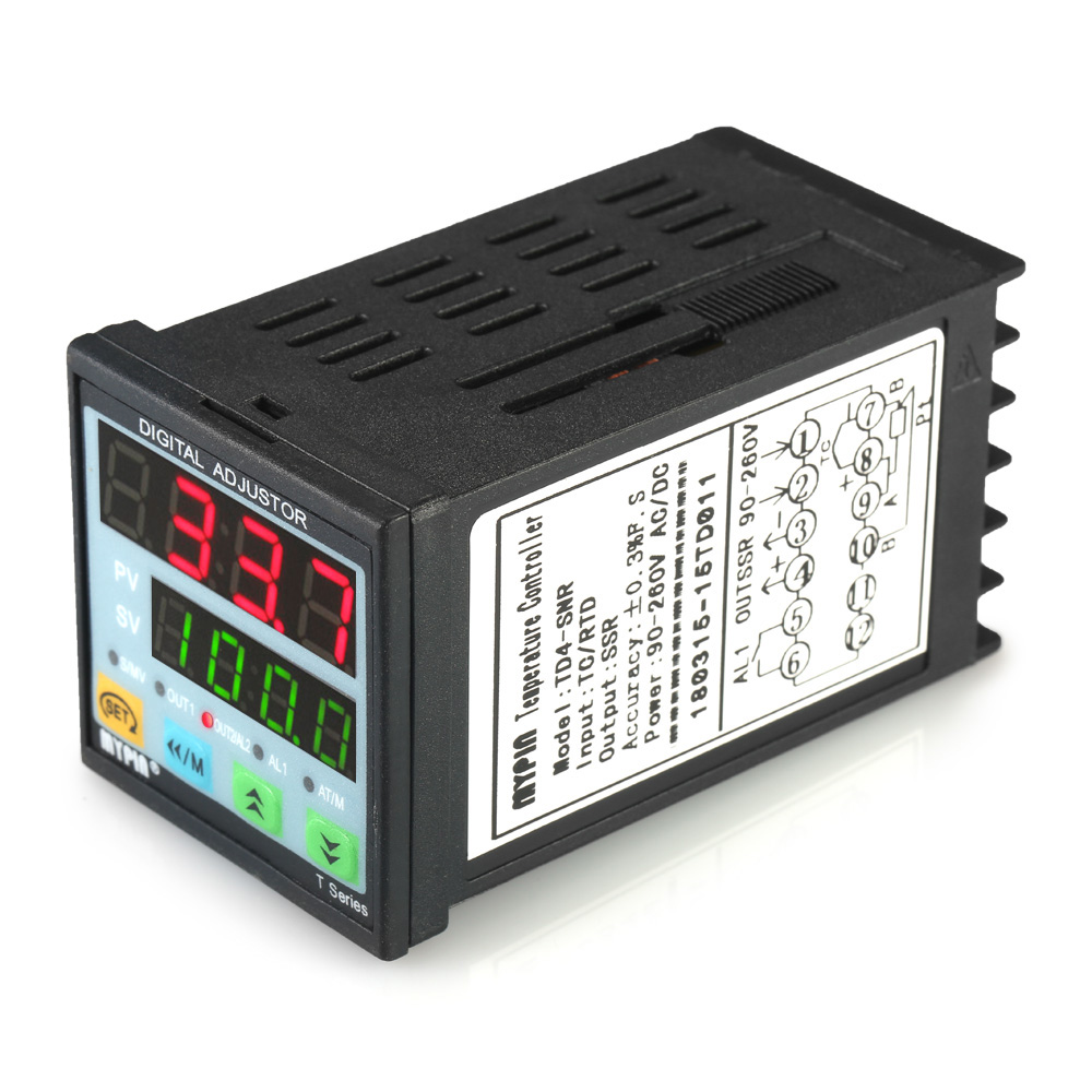Digital Programmable Temperature Controller Thermometer SNR 1 Alarm Relay Output TC/RTD Input LED PID Dual LED Display xmt7100 mini panel size 48 24mm intelligent led digital display pid temperature controller for industrial usage
