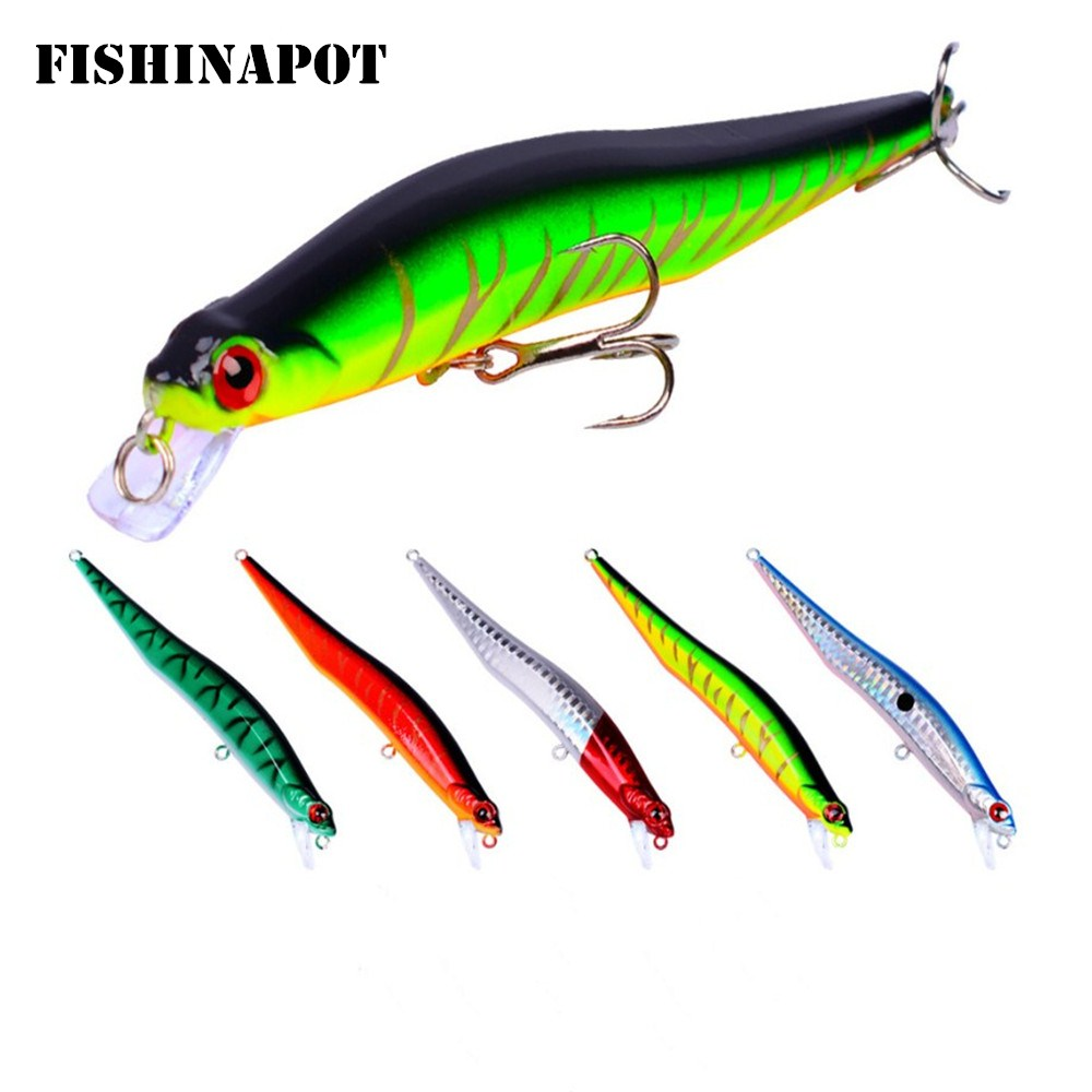 1pcs 10g/12cm Minnow Fishing Lure 3D Eyes Hard Bait Crankbait Wobblers Artificial Baits Bass Pike Carp Japan Fishing Tackle 56pcs lot mixed fishing lures bass baits crankbaits fish hooks tackle xg 2017 new fishing lure minnow