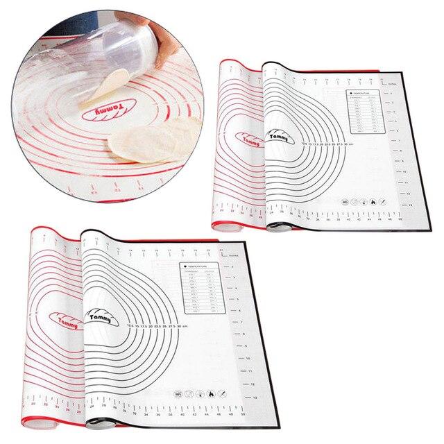 Hifuar 60*40/40*30 cm Silicone Baking Mat Với Quy Mô Cán Bột Pad Nhào Bột Mat không Dính Pastry Tấm Lót Lò