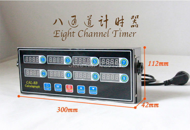 commerical use restaurant kitchen eight channels digital kitchen timer,cooking thermometer and timer цены