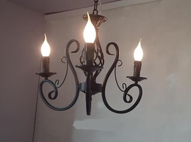 Stwardnienie żyrandol świeca Rustykalna Sypialnia Oświetlenie Lampy