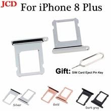 JCD для iphone 8 Nano держатель sim-карты лоток Слот для iphone 8 Plus Замена держатель sim-карты адаптер гнездо Аксессуары