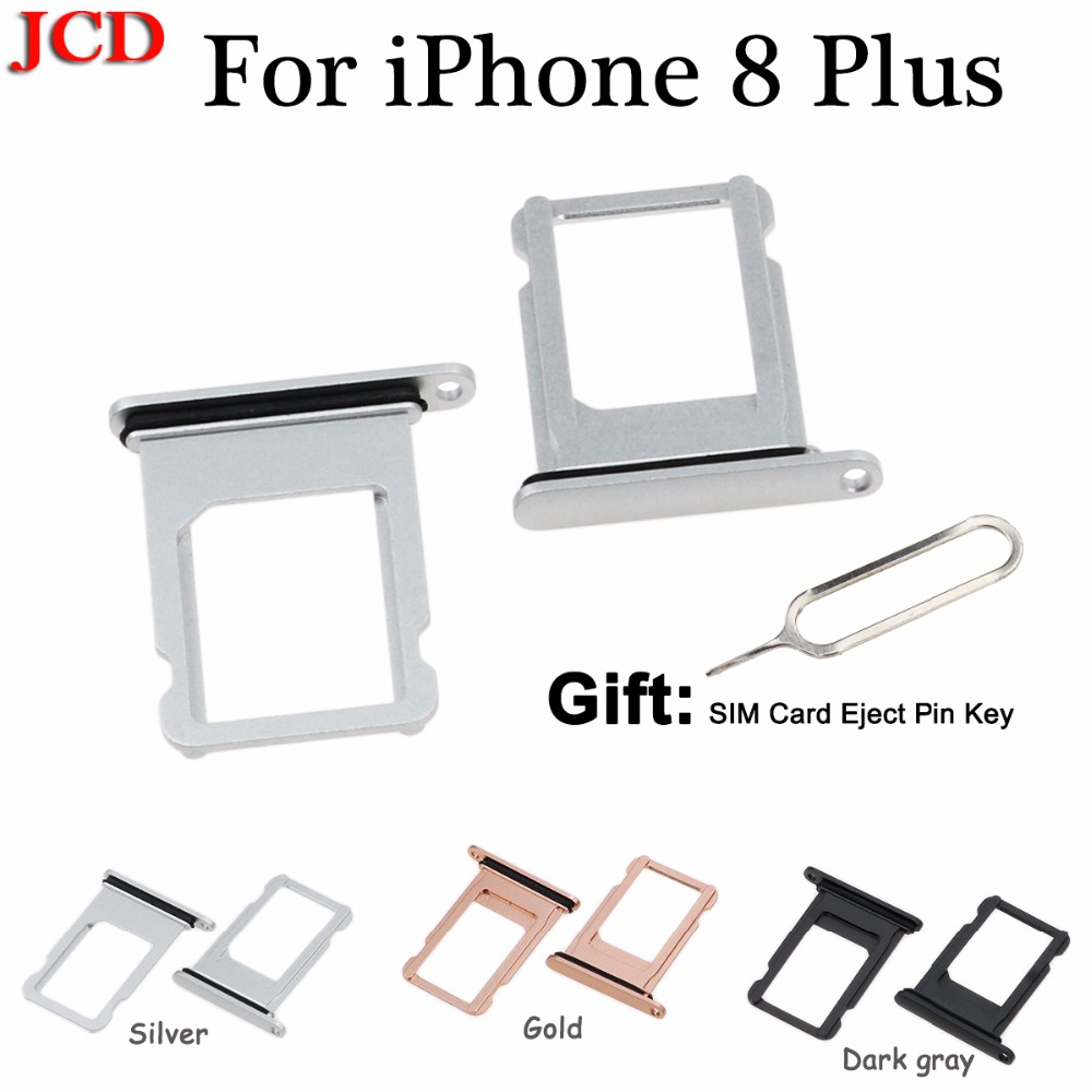 JCD New For Iphone8 Nano SIM Card Holder Tray Slot For Iphone 8 Plus Replacement SIM Card Holder Adapter Socket Accessories