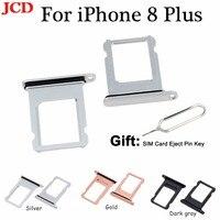 JCD Novo Para iphone Nano SIM Card Tray Titular Slot para iphone 8 8 Plus Substituição SIM Card Titular Soquete Adaptador acessórios|Cartão SIM/SD Bandejas|Telefonia e Comunicação -