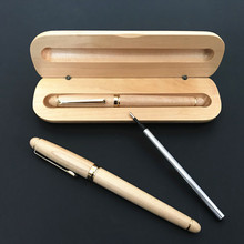 Luxury quality Wooden stationery students Business office Medium Nib Ballpoint Pen New+Luxury package as gift
