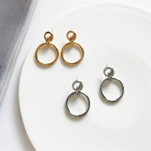 CHIC temperament wind hollow out geometric circular earrings fashion retro splicing combination 2019 the new
