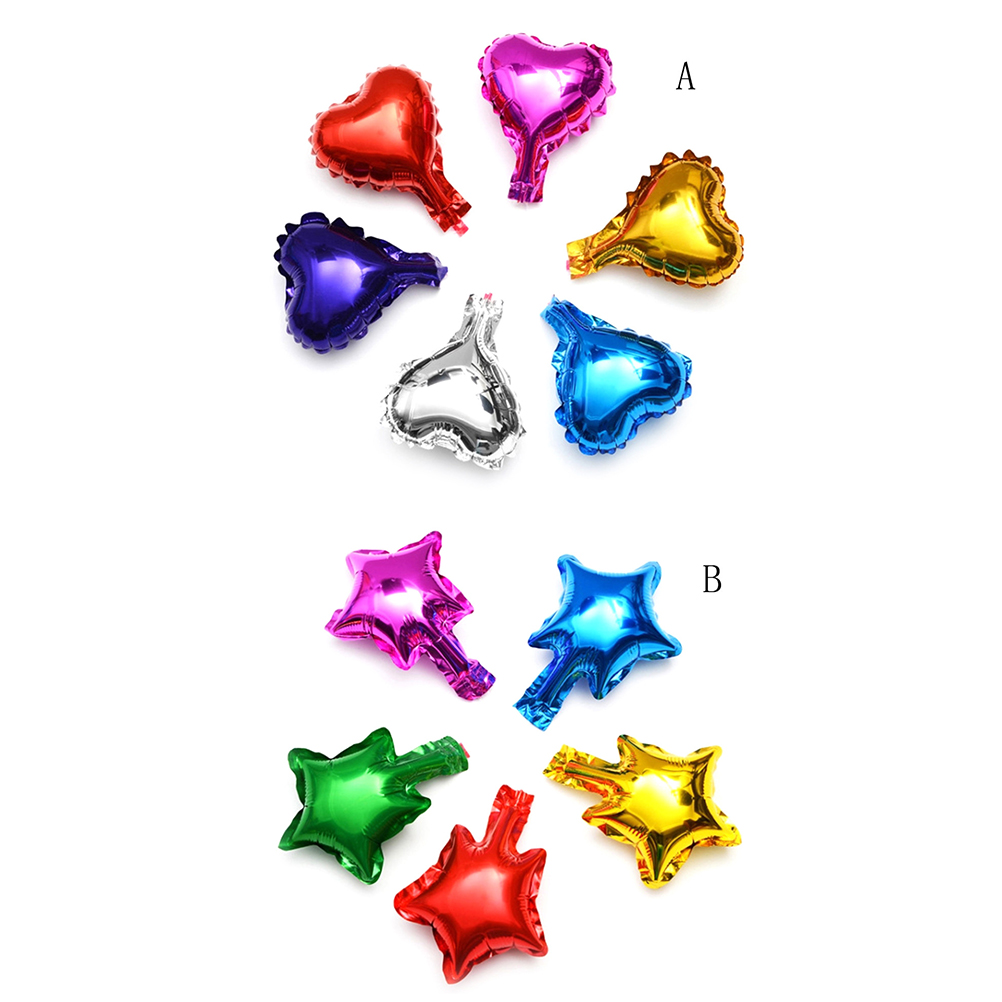 16cm 5pcs Foil Heart Star Balloons for Birthday Party Decorations Adults Kids Baby Shower Bachelorette Party Wedding Decorations
