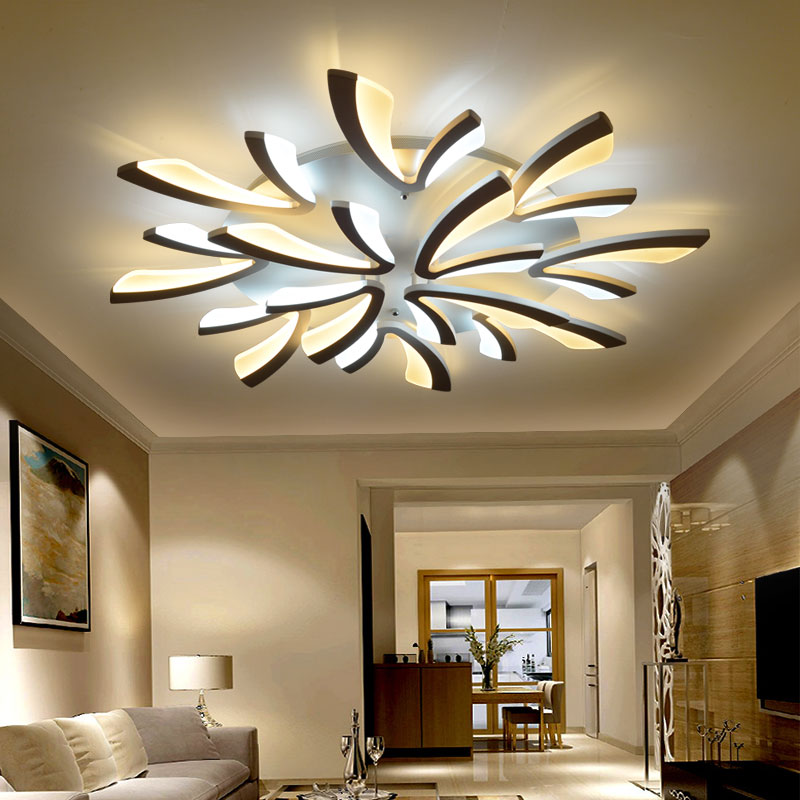 Stylish Living Room Lighting Ideas Meethue: 2018 Sale Lustre Acrylic Modern Led Ceiling Lights For