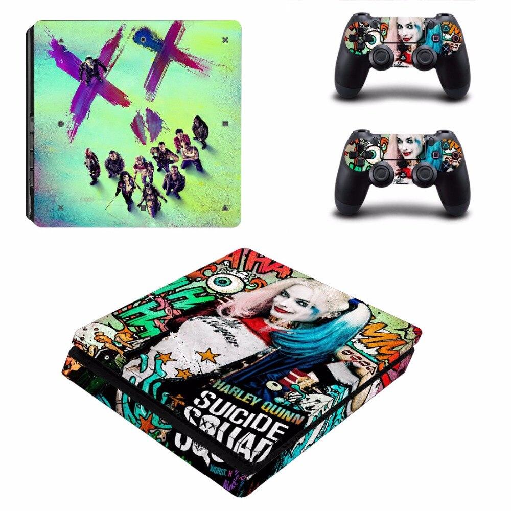 Suicide Squad Harley Quinn Joker and Batman PS4 Slim Skin ...