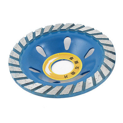 100mm X 22mm Two Tone Diamond Coated Concave Grinding Wheel Disc