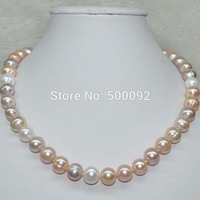 Natural Multicolor 9 5 10mm Freshwater Pearl Necklace
