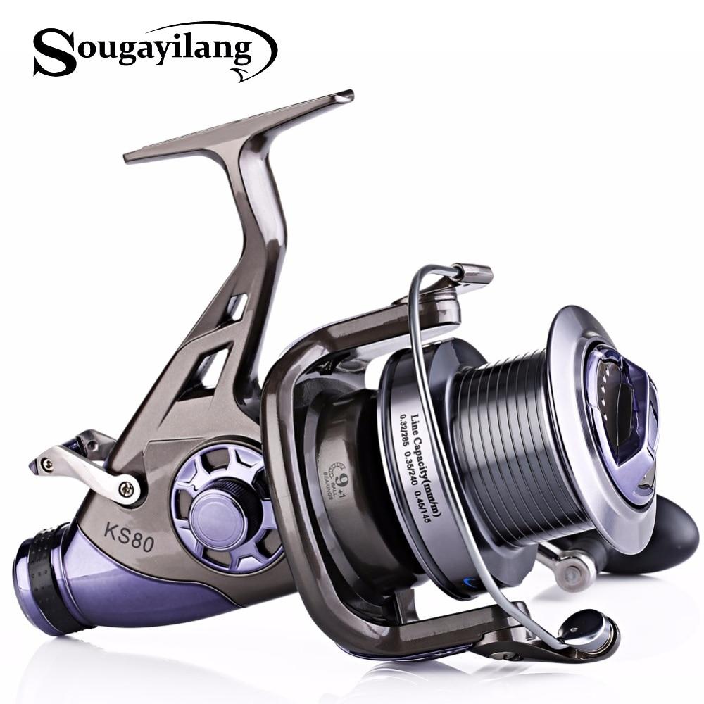 Sougayilang Carp Fishing Reel Metal Spool 9 1BB 4 1 1 High Speed Spinning Fishing Reel