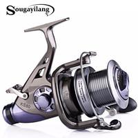 Sougayilang Carp Fishing Reel Metal Spool 9+1BB 4.1:1 High Speed Spinning Fishing Reel Super Quality Drum Carp Reel De Pesca