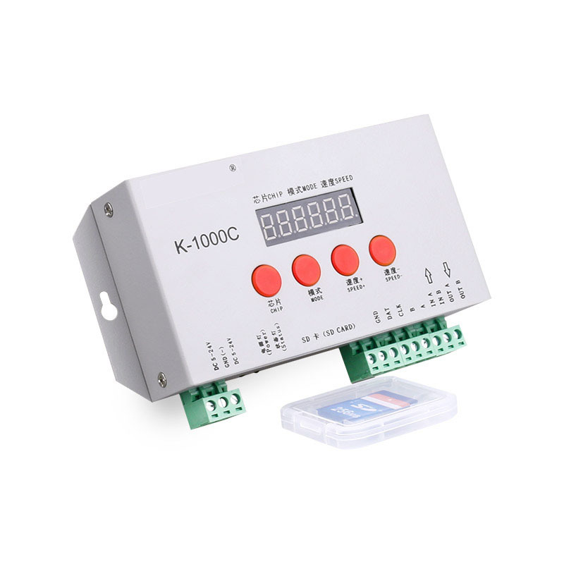 Programmable RGB Pixel Controller with Digital card for DC5-24V Pixel led Strip IC LPD6803/WS2811/WS2812b/WS2813/SK6812 DMX IC