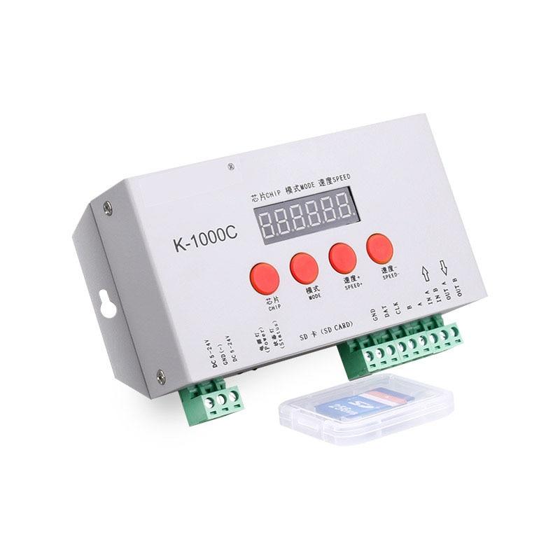 Programmable RGB <font><b>Pixel</b></font> Controller with Digital card for DC5-24V <font><b>Pixel</b></font> <font><b>led</b></font> Strip IC LPD6803/<font><b>WS2811</b></font>/WS2812b/WS2813/SK6812 DMX IC