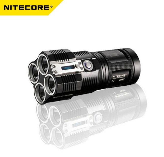 Nitecore TM26 0.7 ЖК дисплей 4 * Cree XM L2 4000 люмен светодиодный фонарик Multi mode памяти OLED Дисплей свет w/4*18650 Батарея