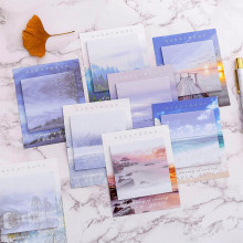 Лидер продаж Творческий Пейзаж путешествия N раз Набор стикеров для заметок самоклеющиеся записная книжка Примечание Бумага наклейки Школьные принадлежности