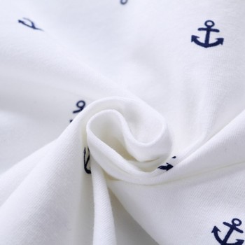 Newborn baby boys clothes set navy blue white T shirt and short 3