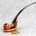 Высококачественная трубка из розового дерева с инструментами 23 см курительная трубка 3 мм длинная изогнутая табачная труба Gandalf стиль дерев...