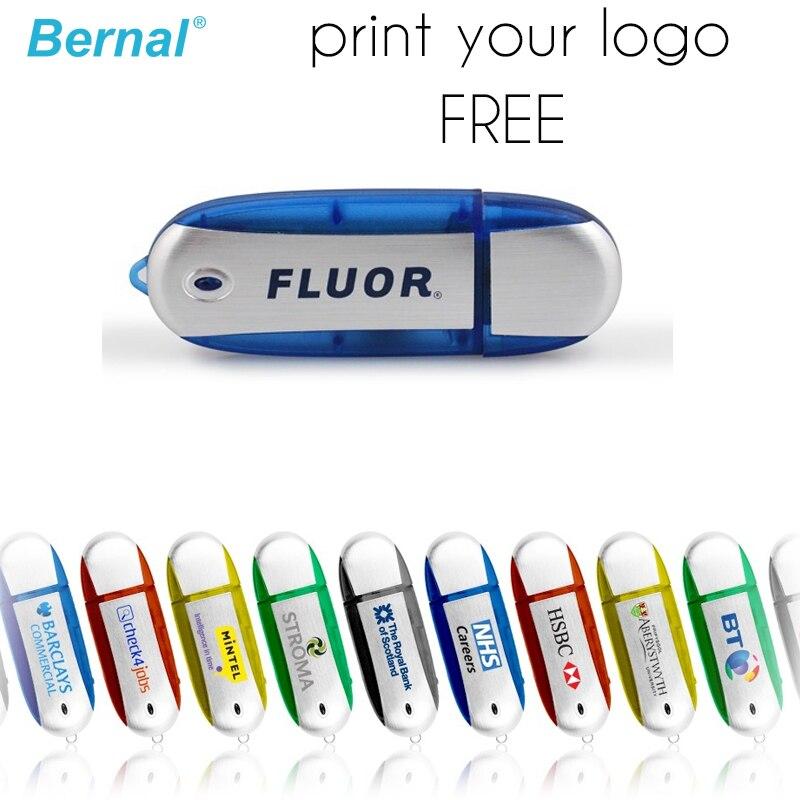 Bernal Free Logo(Minimum Order 30pcs 10%discount)USB FLASH Drive USB 2.0 DRIVE Usb Flash Memory 128MB 512MB 1GB 2GB Pen Drive