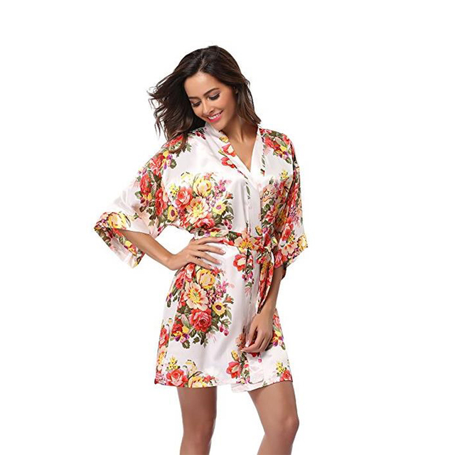 f99e855238 Floral Robe women bride robes Gown Bride Wedding kimono robe
