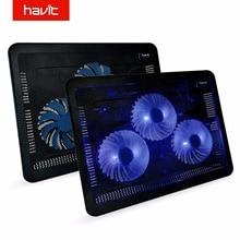 Охлаждающая подставка для ноутбука HAVIT HV-F2056. Кулер для ноутбука+ 2 USB. Стильный тонкий дизайн, портативная работа от USB. 3 встроенных охлаждающих вентилятора. 2 дополнительных USB выхода