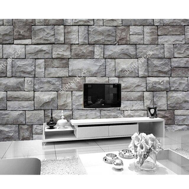 Benutzerdefinierte 3d Stereoskopische Tapete Stein 3d Tapete Für