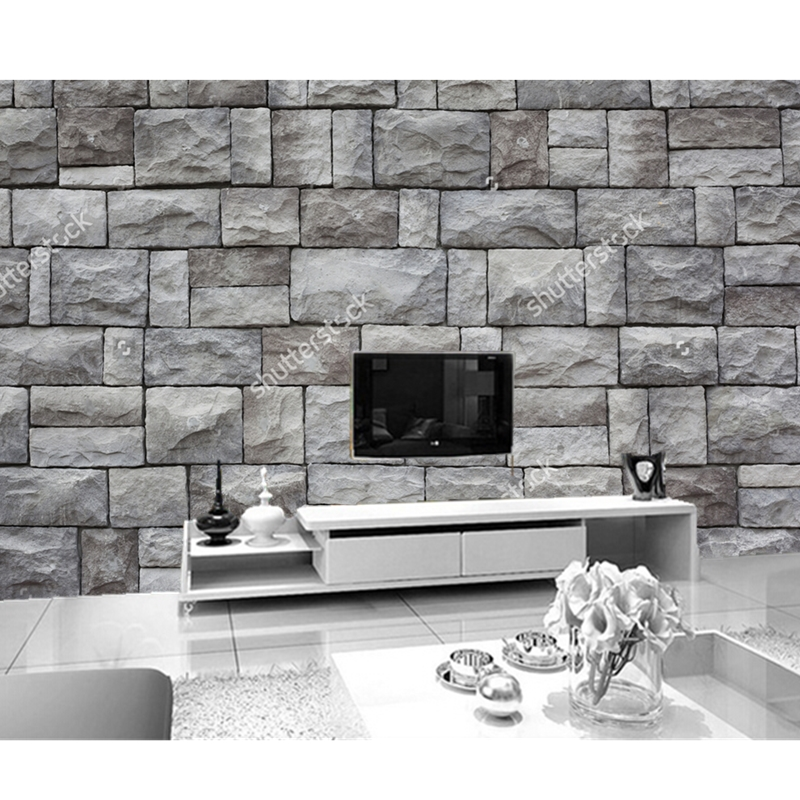 Custom 3d stereoscopic wallpaper stone 3d texture for 3d stone wallpaper for living room
