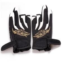 1Pair Fishing Gloves Anti-Slip 3 Low Fingers Comfortable Pesca Outdoor Sports Glove Protector Finger Luvas Guantes De Peche